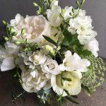 A classic white wedding.