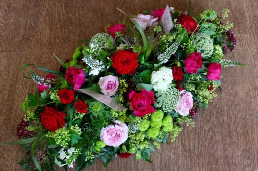 Funeral flowers and floral tribute