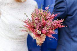 Aga and the heather bouquet.