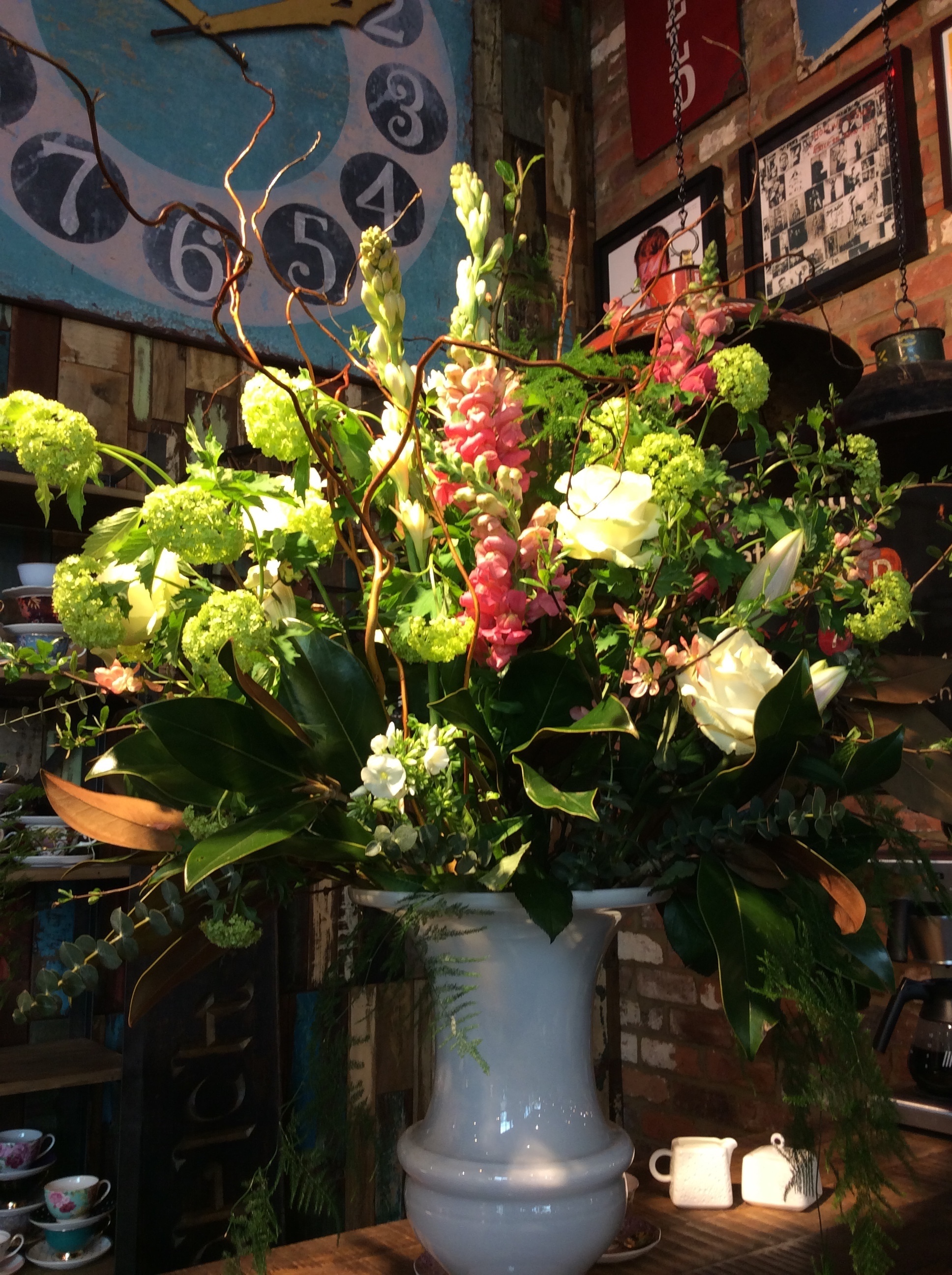 Flowers for exciting and beautiful new lifestyle shop.