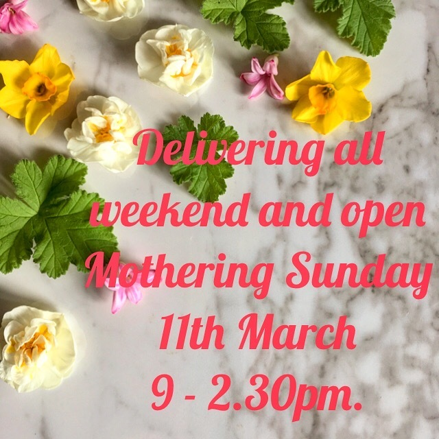Open all weekend including Sunday 11th March.